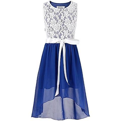 YIZYIF Niñas Princesa Dama De Honor De La Boda Alta Baja Desfile Gasa Vestido De Fiesta Para 6-14