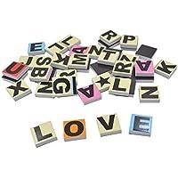 180 Letras de Goma magnéticas de EVA y PVC para Escribir y Aprender Palabras de bebé, educación temprana, Juguetes para niños Incluyen 7 Colores en la Parte Superior y una Caja.