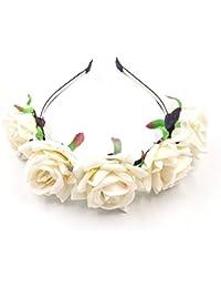 22ac975d3db JZK cercle floral coiffe blanche pour enfants et adultes par mariage
