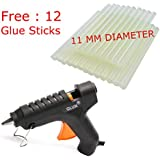 GLUN 40W 11 mm Hot Melt Glue Gun with Glue (12 Sticks)