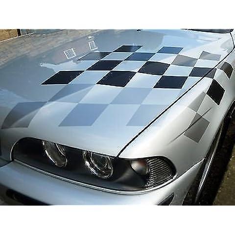 BMW M sport stile GRIGI bandiera a scacchi adesivo E30 E36 E39 E46 E90 M3 M5 Z4