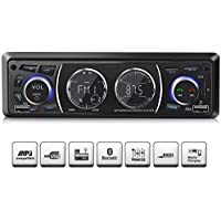 Ironpeas Autoradio mit Bluetooth Freisprecheinrichtung,USB/MP3/FM/WMA/TF-Media Player + Fernbedienung,Single-Din-Universal-Autoradio