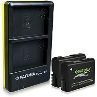 PATONA 2x Premium Bateria Nikon EN-EL14 y Dual Cargador con micro USB para Nikon CoolPix P7000 P7100 P7700 P7800