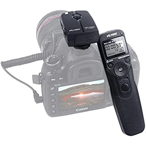 Viltrox Temporizador automático inalámbrico disparador remoto controlador Conjunto Lapso de tiempo Intervalómetro temporizador para Canon EOS 1200D 700D 650D 70D 60D 550D 600D 1100D 1000D 500D 760D 100D T6S T6i T5i T3i T3 T5