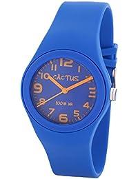 Cactus CAC-76-M03 - Reloj de pulsera niños, Plástico, color Azul