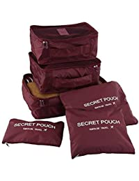 Oxbow® 6 Set Travel Packing Pouches, Luggage Compression Pouches, Multi-Functional Storage Bag, Travel Luggage Organizer, Suitcase Compression Pouches (40 * 30 * 12Cm)
