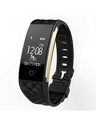 Fitness Armbänder Wasserdichte Smart Tracker - Yarrashop Herzfrequenz Monitor Sport Wristband Fitness Tracker Multi-Sport-Modus Gesundheit Monitor Pedometer Anruf Nachricht Erinnerung für IOS Android Phone