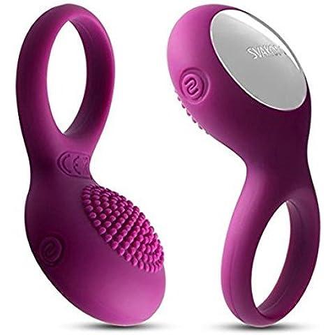Svakom Anillo Vibradores 5 Modos Anillo Hombre Pene Impermeable Recargable Para Hombre Mujer Prolongar Placer