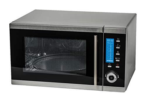 *MEDION MD 15501 4 in 1 Mikrowelle mit Grill (25 Liter, 900 Watt, 1100 Watt Grill, 2500 Watt Heißluft, 10 Automatik-Programme) silber*