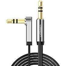 UGREEN 10597 - Cable de conector Jack macho a macho (1 m, 3.5 mm, 24 K oro), color negro
