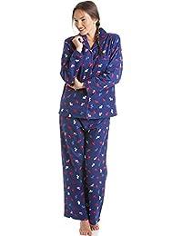 Pyjama en flanelle - haut à manches longues et pantalon - motif terrier écossais