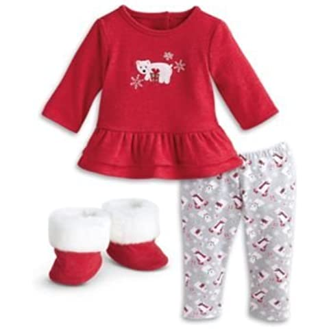 American Girl Bitty Baby - Ruffled Polar Bear Pajamas for dolls - Bitty Baby 2015 by American Girl