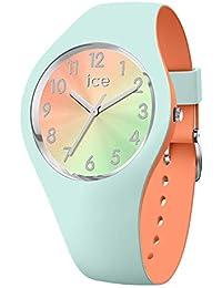 Ice-Watch - ICE duo chic Aqua coral - Montre verte pour femme avec bracelet en silicone - 016981 (Small)
