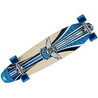 Mindless Komplettboard Longboard Corsair II Blue - Kicktail Profi Longboard 9.25 x 38.25 inch