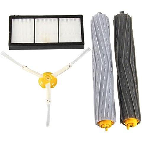 4pcs Estrattore Kit Spazzola e filtro per iRobot Roomba Serie 800870880Cleaner