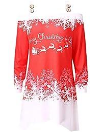 VEMOW Heißer Einzigartiges Design Mode Damen Frauen Frohe Weihnachten Schneeflocke Gedruckt Tops Cowl Neck Casual Sweatshirt Bluse