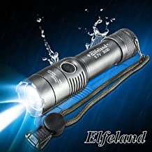 MG Universal Elfeland 15000LM T6 LED Zoomable Survival Tactical Flashlight Hunting Torch Lamp