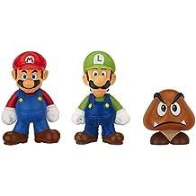 Mario Bros - World of Nintendo Micro Land 3 figura pack: Mario, Luigi, & Goomba (Jakks Pacific JAKKNIN016MLG)