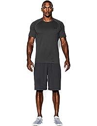 Under Armour Herren UA Tech Ss Fitness T-Shirt, Carbon Heather, M