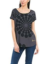 Desigual Genri - T-shirt - Imprimé - Col bateau - Manches courtes - Femme