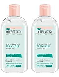 Diadermine Fraîcheur Eau Micellaire 400 ml - Lot de 2