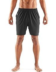 Skins Square 7 Inch Shorts Men Black 2017 Laufhose