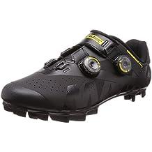 Mavic - Zapatillas de Ciclismo de Piel para Hombre Negro Negro