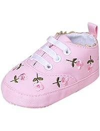 Happy Cherry 1 Par Zapatos Zapatitos Zapatillas Primeros Pasos Antideslizantes Shoes para 3-12 Bebés Niñas Niños Longitud 11cm/12cm/13cm Varios Estilos a Elegir