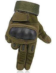 OMGAI Dedo Completa Guantes Tácticos Militares De Los Hombres De La De Nudillo Duro Para Airsoft Paintball Del Ejército De La Motocicleta Deportes Al Aire Libre Ejercito Verde M