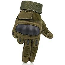 OMGAI Dedo Completa Guantes Tácticos Militares De Los Hombres De La De Nudillo Duro Para Airsoft Paintball Del Ejército De La Motocicleta Deportes Al Aire Libre Ejercito Verde L
