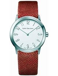 Calvin Klein K0341138 - Reloj de caballero de cuarzo, correa de textil color rojo