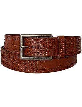 CALVIN KLEIN Unisex Gürtel leather w rivets and holes brn