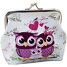 32b5b56dc4171 Ularma Damen Geldbörse Vintage PU Leder Brieftasche Eule Handtasche Mini  Tasche