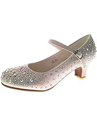 Zapatos Mary Jane de fiesta, diseño brillante con tacón bajo, talla 35-42