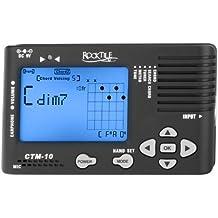 Rocktile CTM-10 - Afinador con buscador de acordes y metrónomo (con salida para auriculares)