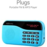 Portronics POR-142 Plugs Portable Speaker with FM (Blue)