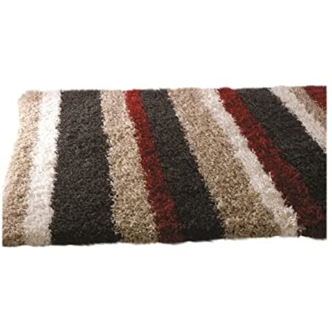 Nordic Multi Channel Shag Rug Rug Size: 230cm x 160cm (7 ft 6.5 in x 5 ft 3 in) by Flair Rugs