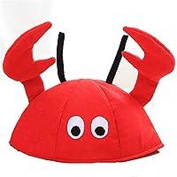 HEJIANGTAO Crab Cap Langosta para niños Entretenimiento para Adultos Accesorios de promoción Evento Anual Sombreros de Fiesta Sombrero de Navidad Sombrero de Langosta de Navidad