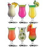 Verres à cocktail pour pina colada Rink Drink - 460 ml (16 oz) - Coffret cadeau de 6 pièces