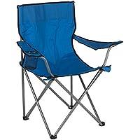 Aktive - Silla plegable de camping, color azul, 52 x 52 x 88 cm (ColorBaby 85278)