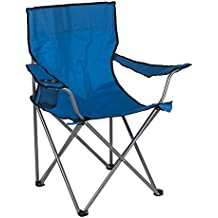 Aktive - Silla plegable de camping, color azul, 52 x 52 x 88 cm