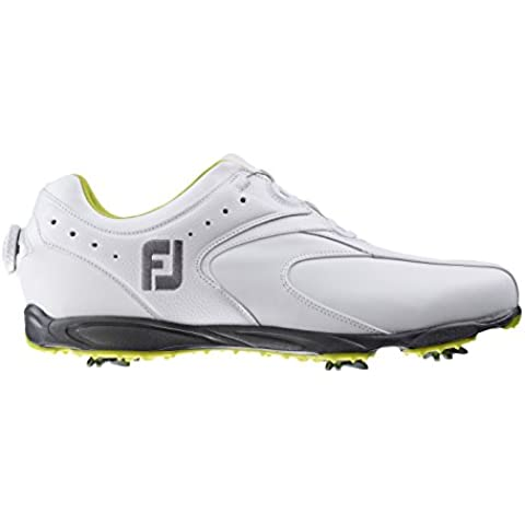 FootJoy HydroLite 2.5 - Zapatos de golf para hombre, color blanco, talla 42