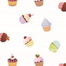 "'1,4m² hule Mantel ""Cupcakes ancho 140cm–Manta (Metro)"