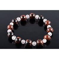 Boviswert Armband,100% Echte Edelsteine, Mahagony Obsidian- 10mm und Rosenquarz Perlen 6mm. preisvergleich bei billige-tabletten.eu