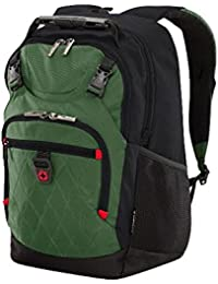 "Wenger 602661 Priam 15.6"" Laptopb Backpack, Padded laptop compartment with iPad/Tablet / eReader Pocket in Green"