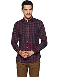 Indigo Nation Men's Checkered Slim Fit Formal Shirt