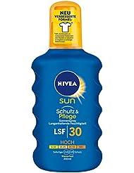 NIVEA SUN Sonnenspray mit verbesserter Formel, Lichtschutzfaktor 30, 200 ml Sprühflasche, Schutz & Pflege