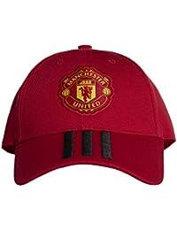 sale retailer 7eb5c af84c Adidas MUFC 3S Cap - Gorra 3ª equipación Manchester United FC, Unisex  Adulto, Rojo