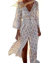 Chaud vendre! Tefamore Femmes bohémien Style Chiffon Loose Summer Beach Gallus Robe longue à cheville