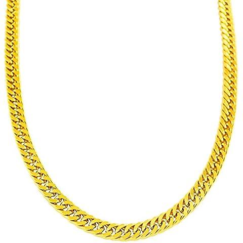 wibern 18K Placcato Oro Da Uomo Collana Curb maschio gioielli regalo di natale gioielli